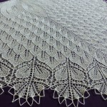 Ivory and Pearls shawl.