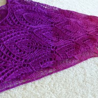 Autumn Sunset shawl