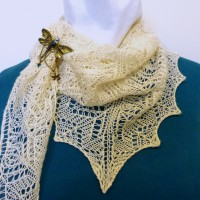Frosted Swirls scarf.