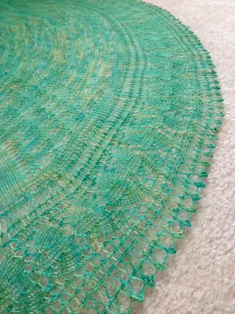 Sea Glass shawl.