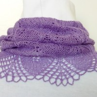 Lilacs in Bloom cowl.