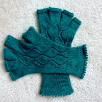 Blue Spruce Lace Gloves.