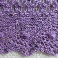 Lavender Tweed Juneberry Shawl.