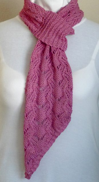Knitting Pattern For Pull Through Scarf : Iced Watermelon Pull-through Scarf Needles N Purls