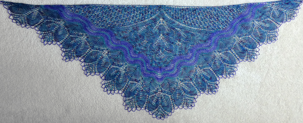 Alberta Blues shawl.