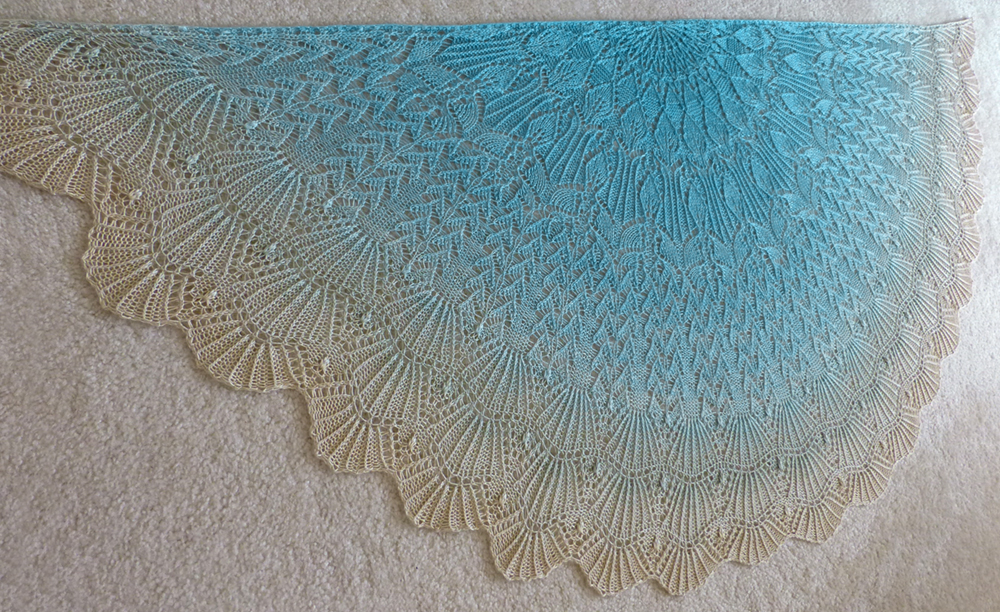 Seaside Siren shawl.
