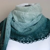 Wintergreen Owls shawl.