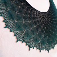 Woods Before Sunrise shawl