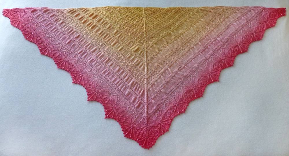 English Tea Rose shawl.