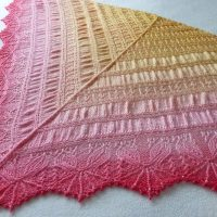 In the Store: English Tea Rose shawl
