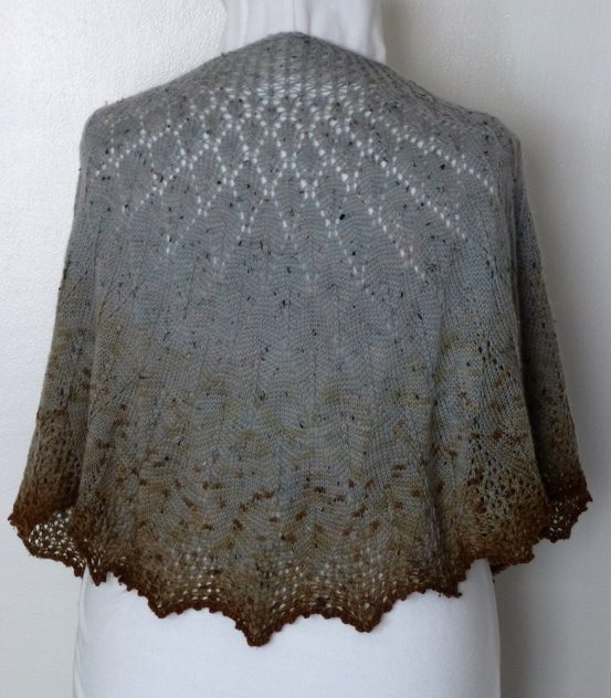 Bluebird in Winter shawl.