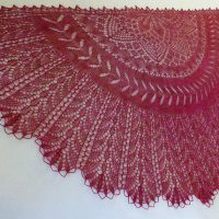 In the Store: Desert Flowers shawl