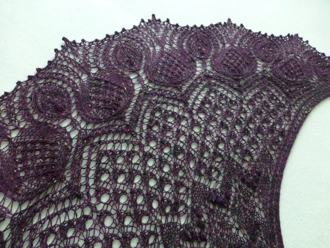 Thistles In Tweed shawl.
