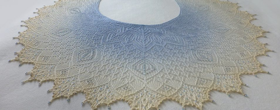 In the Store: Winter Wonderland shawl