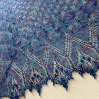 In the Store: Cool Waters Aeolian shawl.