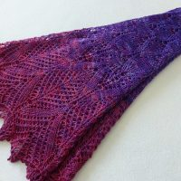 Pele: Goddess of Fire shawl.