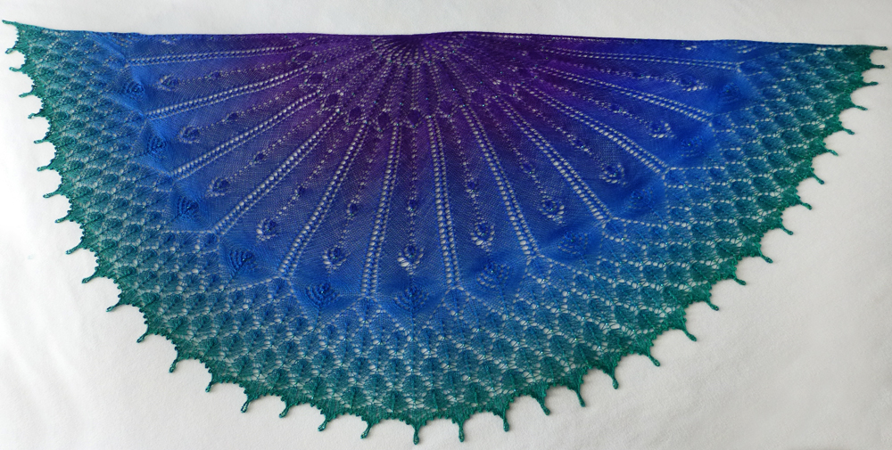 Birds of a Feather shawl.