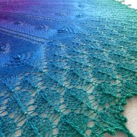 In the Store: Birds of a Feather shawl
