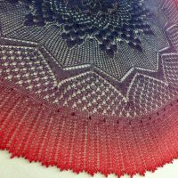 In the Store: Rites of Spring shawl