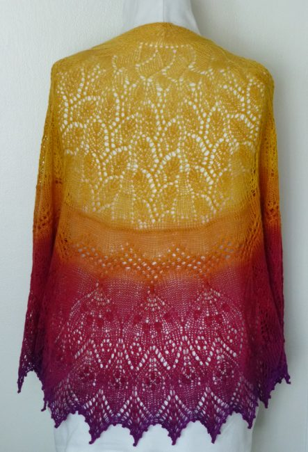 Tequila Sunrise shawl.