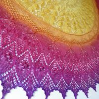 In the Store: Tequila Sunrise shawl