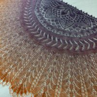 Desert Sunset shawl