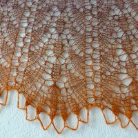 Desert Sunset shawl.