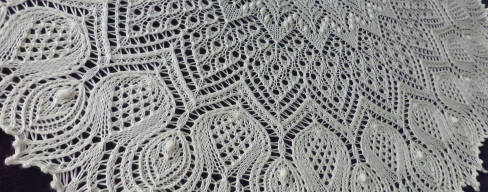 Custom Order: Wedded Thistles shawl