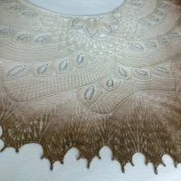 In the Store: Wild Swan shawl