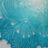 Custom Order: 1001 Nights by the Sea shawl.