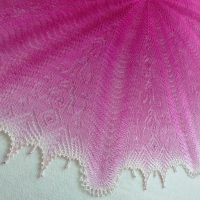 In the Store: Pink Panther shawl.