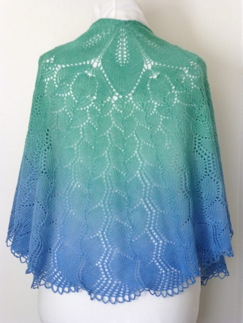 Where the Forest Meets the Sea shawl.