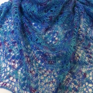 Peacock Echo Flowers shawl.