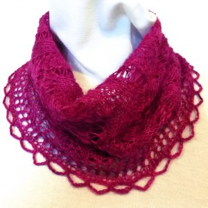 Raspberry Allegretto cowl.