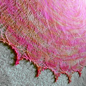 Sweet Dreamsicle shawl.