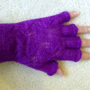 Amethyst Lace Gloves.