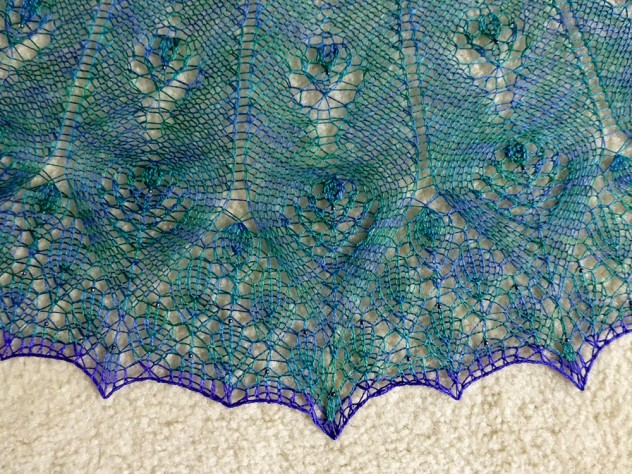 Proud as a Peacock shawl.
