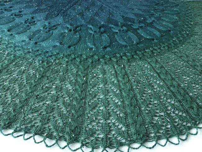 Into the Woods Owl shawl.