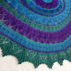 Vivid Takes Flight shawl.