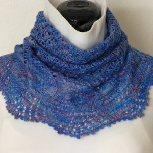Thistles and Bluebells cowl.