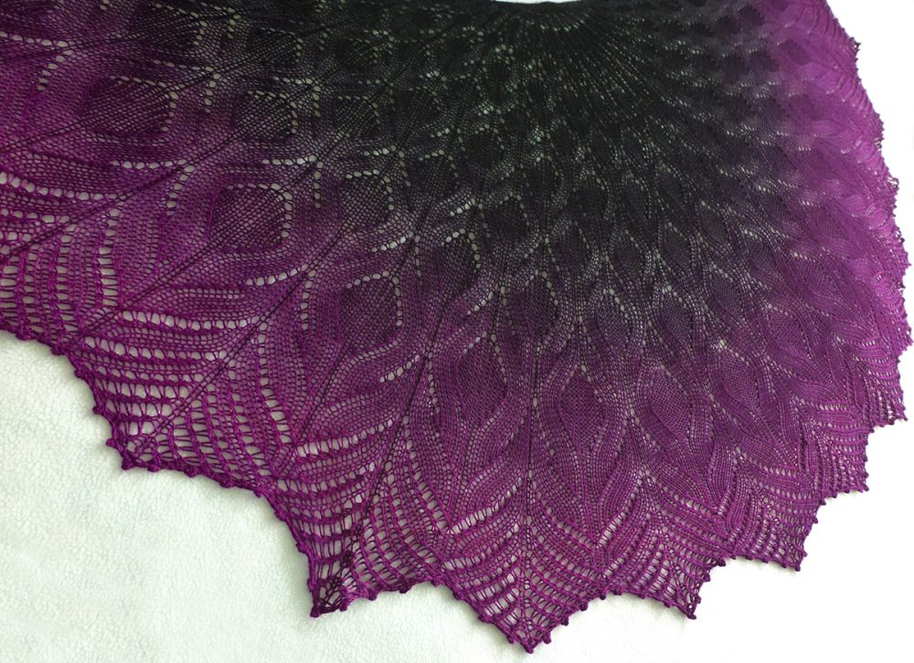 A Taste of Forbidden Fruit shawl.