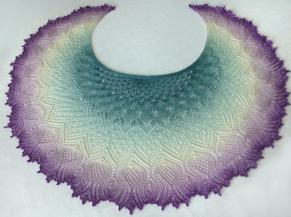 Scottish Thistles Merida shawl.