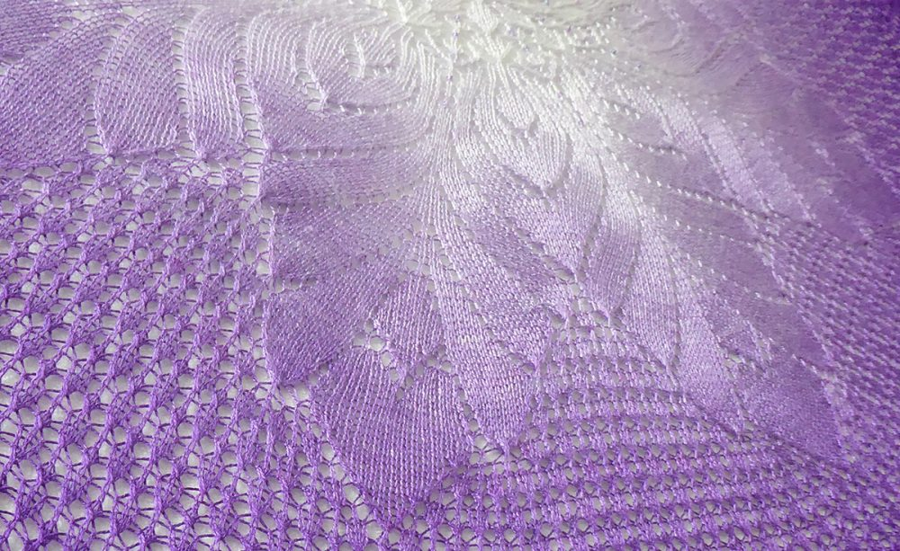 Shards of Amethyst shawl.