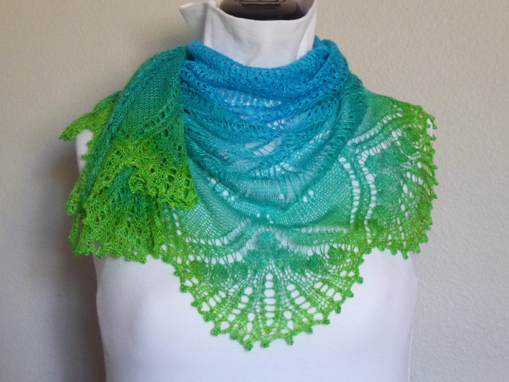 Fronds of Summer shawl.