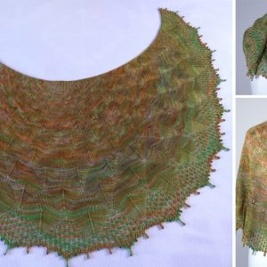 Autumn Leaves Shawl.
