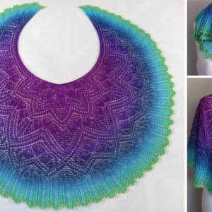 Northern Lights Shawl.