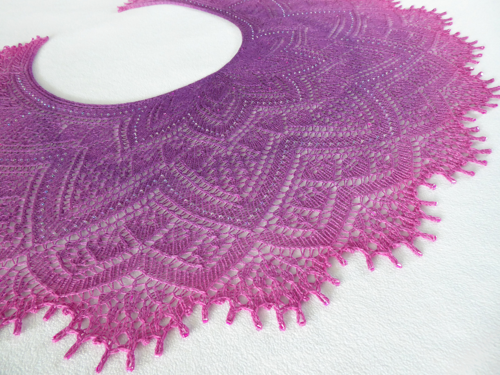 Orchid Madness shawl.